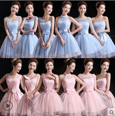 Bridesmaid Dresses in Different Style