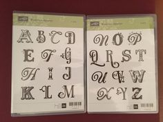 Stampin up Broad sheet alphabet upper case 120585 26 piece set -clear mount RARE #StampinUp #ArtsyAlphabet