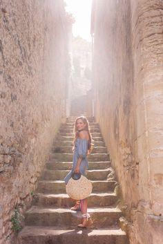 Gal Meets Glam Bastide De Marie & Lacoste, Provence -Sea dress, Castaner espadrilles & Kayu bag