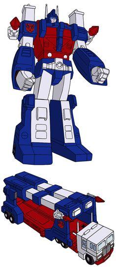 Ultra Magnus Robo Transformers, Original Transformers, Transformers Generation 1, Transformers Masterpiece, Nemesis Prime, Ultra Magnus, Transformers Collection, Nova Era, Fanart