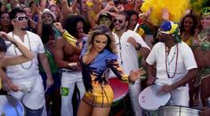 Brazilian pop star Claudia Leitte makes a guest appearance in the video...