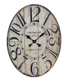 Another great find on #zulily! 'Antiquite de Paris' Wall Clock #zulilyfinds