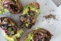 Artisanal Toast gets even more exciting with Avocado Mushroom Toast made with deeply caramelized mushrooms, avocado and micro greens.
