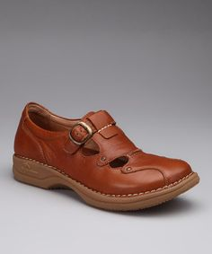 Take a look at this Tan Delphi Buckle Shoe by DROMEDARIS on #zulily today!