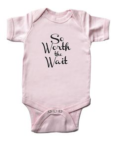 This PepperRoo Pink & Black 'Worth the Wait' Bodysuit - Infant by PepperRoo is perfect! #zulilyfinds