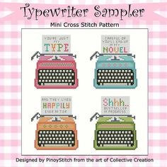 Typewriter Collection Cross Stitch PDF $5.00
