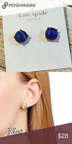 🆕 NWT Kate Spade Blue Studs Brand new with tags Kate Spade blue stud earrings. Comes with jewelry box. Refer to pic 2 for sizing. 🚫NO TRADES🚫 kate spade Jewelry Earrings