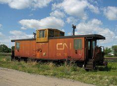 Abandoned CN Caboose by mrchristian, via Flickr