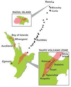 NZ Volcanoes graphic