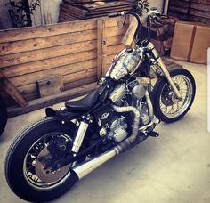 Custom Sportster, Custom Harleys, Custom Bikes, Brat Cafe, Harley Dyna, Bobber Chopper, Cool Motorcycles, Harley Davidson Motorcycles, My Ride