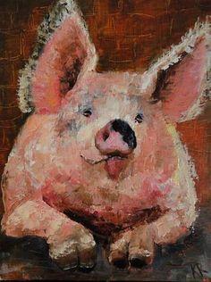 "Daily+Paintworks+-+""Pucker+up!""+-+Original+Fine+Art+for+Sale+-+©+Karen+Robinson"