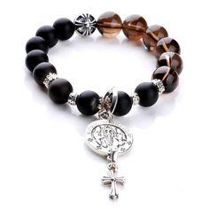 a0b48370b0ad 925 Silver Chrome Hearts Crosses Stone Balls Bracelet Shop Online Silver  Bracelets
