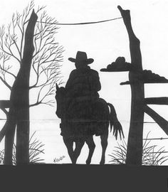 """When you're really studying art and stuff, you may have come across this term: """"Negative Space"""". What the hell is Negative Space. Plasma Cutter Art, Laser Art, Horse Silhouette, Wood Burning Patterns, Cowboy Art, Scroll Saw Patterns, Metal Artwork, Le Far West, Stencil Art"""