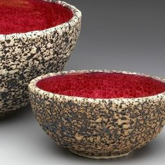 Hard to believe these bowls are pottery, but they are...Wheel thrown Geode Textured Pottery Bowl Large by blueroompotter #handmadehomedecor