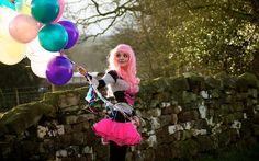 Pink Hair + Balloons