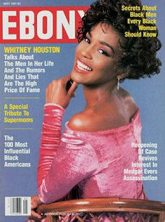Jet Magazine, Black Magazine, Magazine Wall, Vintage Black Glamour, Vintage Beauty, Ebony Magazine Cover, Magazine Covers, Whitney Houston Pictures, Black Enterprise