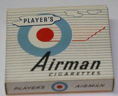 VINTAGE PLAYER'S AIRMAN CIGARETTES FULL PACKET - NON FILTERED.