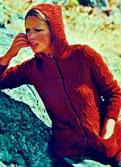 Textured Hooded Jacket PDF Knitting Pattern by MomentsInTwine on Etsy