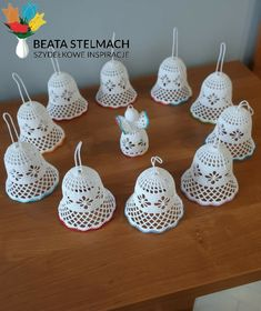 Crochet Christmas Decorations, Christmas Crochet Patterns, Diy Christmas Ornaments, Diy Christmas Gifts, Free Crochet Bag, Crochet Cross, Thread Crochet, Crochet Patterns Filet, Knitting Patterns