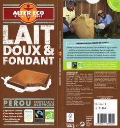 tablette de chocolat lait dégustation alter eco pérou lait doux & fondant 2