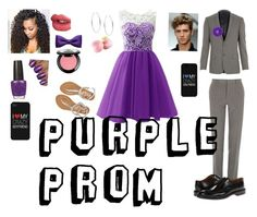 """Purple Prom"" by gatorlover52 ❤ liked on Polyvore featuring Aéropostale, Michael Kors, ZuZu Kim, Eos, River Island, Paul Smith, OPI, NYX and Charlotte Tilbury"