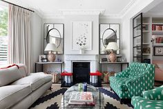 Looking for small living room ideas? The best small living room designs from the House & Garden archive. Narrow Living Room, Coastal Living Rooms, Living Room Grey, Living Room Modern, Living Room Designs, Living Room Decor, Living Spaces, Dining Room, Small Rooms