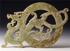 Dragon Jade Ancient China, Ancient Art, Le Jade, Asian Sculptures, Chinese Element, Chinese Patterns, Art Asiatique, Chinese Design, China Art