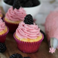 Blackberry Lemonade Cupcakes – Your Cup of Cake