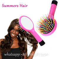 Natural 1Pc Plastic Hair Brush Hair Keratin Care Spa Massage Antistatic Comb Styling Brushes Tools