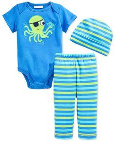 First Impressions Baby Boys' 3-Piece Hat, Bodysuit & Pants Set