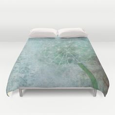 Delicate and Blue  Duvet Cover by Lynn Bolt - $99.00