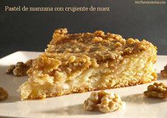 Pastel de manzana con crujiente de nuez - MisThermorecetas.com
