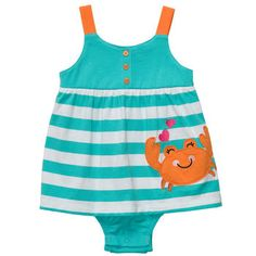 1-Piece Strappy Sunsuit @Carter White White's Babies and Kids
