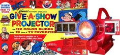 Give a show projector - I had one of these when I was a kid and would show it on my bedroom wall.  Loved it.