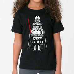 Feel the dark side of the force with this kids Darth Vader t-shirt - perfect for any youngling! Shop now & get your padawan this unique Star Wars tee today!