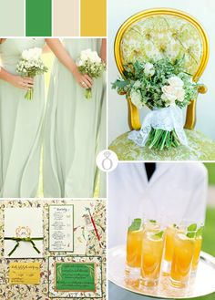 Color Palette: Green & Yellow