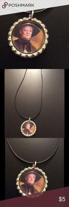NWOT handmade HP Prof McGonagal bottlecap necklace NWOT handmade HP Prof McGonagal bottle cap necklace Jewelry Necklaces