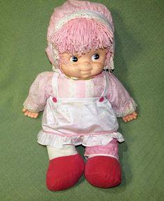 "Vintage 1979 UNEEDA Doll JUMBO 26"" Long Plush Pink & White Vinyl Head Hands RARE #Uneeda #LargeDoll"