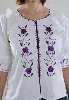 Resultado de imagen para como hacer una blusa de manta bordada