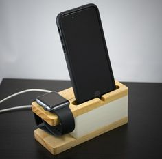 Apple watch stand & iphone stand print by tinkermake on etsy ipody, Iphone Docking Station, Wooden Organizer, Apple Watch 1, Apple Watch Iphone, Iphone Stand, Ipad Stand, Tablets, Cool Gadgets, Wood Print
