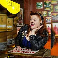 Pin up, rockabilly, ruiva, bar, book, Plus size