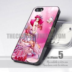Pink Ariel The Little Mermaid 5 Design for iPhone 5 case