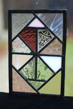 Pink Stained Glass Panel