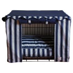 Found it at Wayfair - Dog Crate Cover in Nautical Stripe
