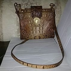 acc6185a4fad Authentic brahmin snake skin crossbody purse Excellent condition used once  last summer Brahmin Bags Crossbody Bags