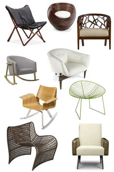 9 Chairs for an Organic Modern Look Decor Style Source List