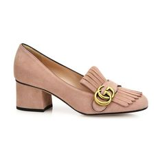 GUCCI Marmont gg suede block-heel pumps found on Nudevotion