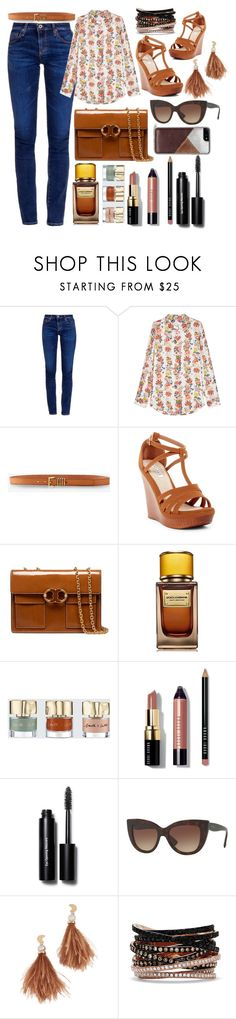 """""""Keep it neat and simple"""" by pulseofthematter ❤ liked on Polyvore featuring AG Adriano Goldschmied, Equipment, Express, Kayleen, Tory Burch, D&G, Smith & Cult, Bobbi Brown Cosmetics, Lizzie Fortunato and Effy Jewelry"""
