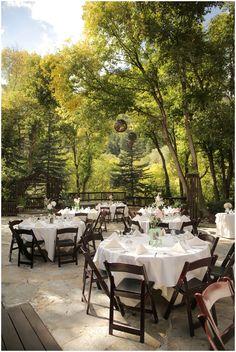 outdoor wedding reception decor // photo by Logan Walker