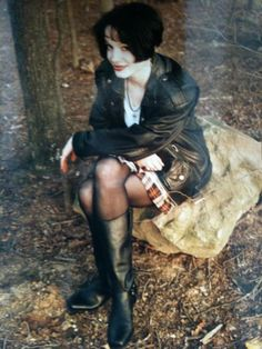 "laurennmcc: ""face-down-asgard-up: "" lushwig-fittgenstein: "" fairdig: "" little-trouble-grrrl: "" Christina Hendricks in her 90s teen goth days "" I know there's plenty of people who want to smooch Joan..."